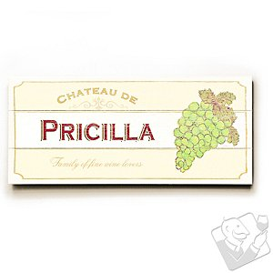 Personalized 'Family of fine wine lovers' Wooden Chateau Sign (Ivory)