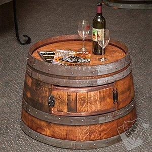 Reclaimed Half Wine Barrel Coffee Table