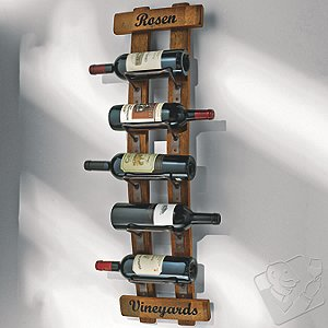 Personalized Reclaimed Barrel Stave Wall Rack