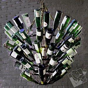 Luce De Vino Wine Bottle Chandelier (Large)