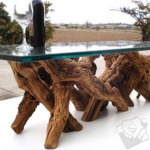 Grapevine Dining Table Glass Rectangle (42 X 72)