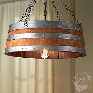 Wine Barrel Top Light