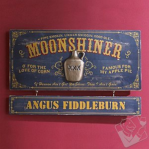 Personalized Moonshiner Sign