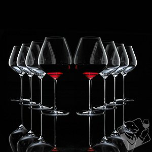 Fusion Air Pinot Noir Wine Glasses Bonus Pack (Set of 6 + 2 Free)