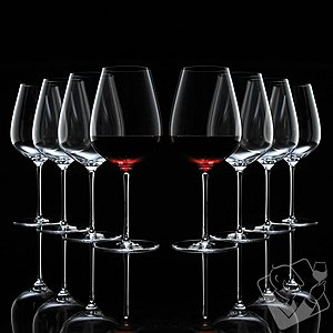 Fusion Air Bordeaux Wine Glasses Bonus Pack (Set of 6 + 2 Free)