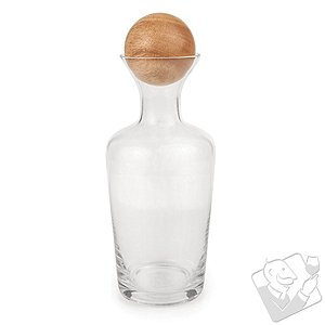 Decanter with Wood Bottle Stopper