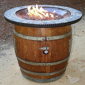 Reclaimed Wine Barrel Fire Pit Bistro