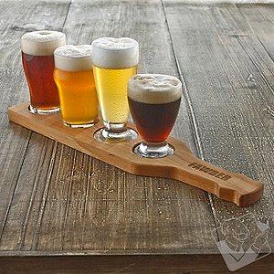 Personalized Craft Beer Flight Set