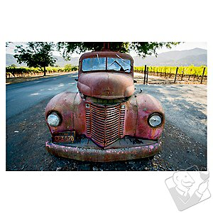 Winery Truck Print on Canvas