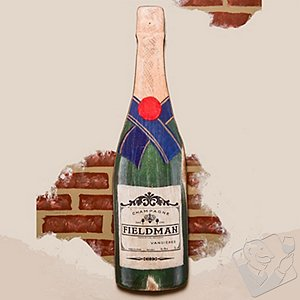 Personalized Champagne Bottle Sign