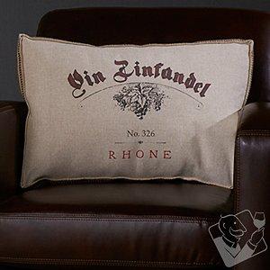 Wine-Themed Accent Pillow (Vin Zinfandel)