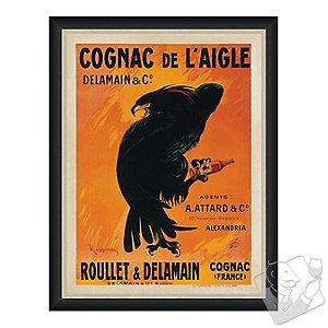 Cognac De L'Aigle Vintage Advertising Print Reproduction (28 X 34)