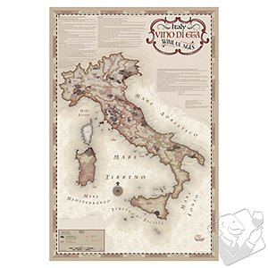 Wine of Ages Antique Map of Italy Print