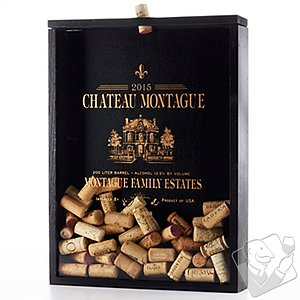 Personalized Cork Collector Shadow Box