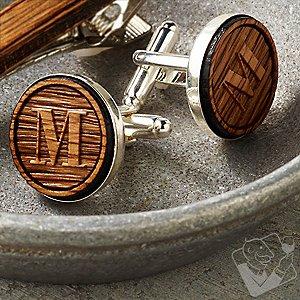 Personalized Reclaimed Bourbon Barrel Cufflinks
