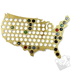 Beer Cap Collectors Map of USA