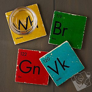 Periodic Table of Spirits Marble Coasters (Set of 4)