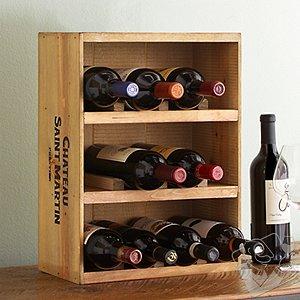 12 Bottle Wine Crate Rack