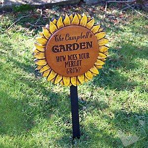 Personalized Sunflower Garden Sign