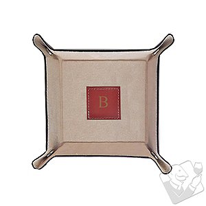 Personalized Bey-Berk Leather Catch All Tray