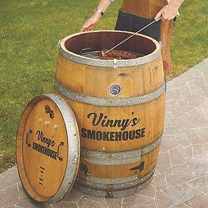 Personalized Reclaimed Wine Barrel Smoker Kit