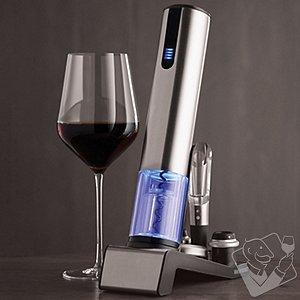 Electric Blue 1 Automatic Wine Opener & Preserver Set