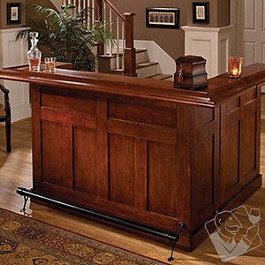 Classic Wrap Around Home Bar (Cherry Finish)