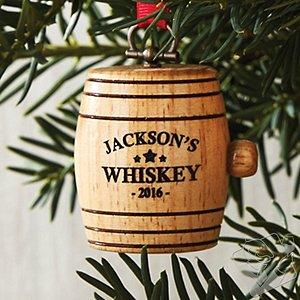 Personalized Mini Whiskey Barrel Ornament 2016