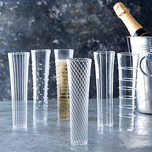Celebrate Stemless Champagne Flutes (Set of 6)