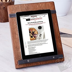 Reclaimed Barrel Tablet & Cookbook Stand