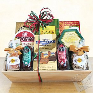 Meat Cheese & Chocolate Abundance Gift Basket