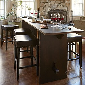 Gathering Table Set with 2 Stools