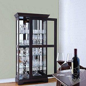 Glassware Display Curio Cabinet with Sliding Door