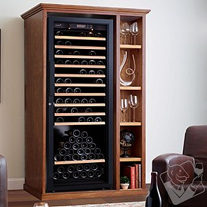XL Custom Wine Cellar Cabinet With EuroCave Premiere L Wine Cellar