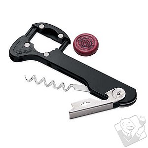 Retractable Foil Cutter Corkscrew (Black)