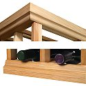 Designer Wine Rack Kit - 4' Molding Kit (Poplar Natural)