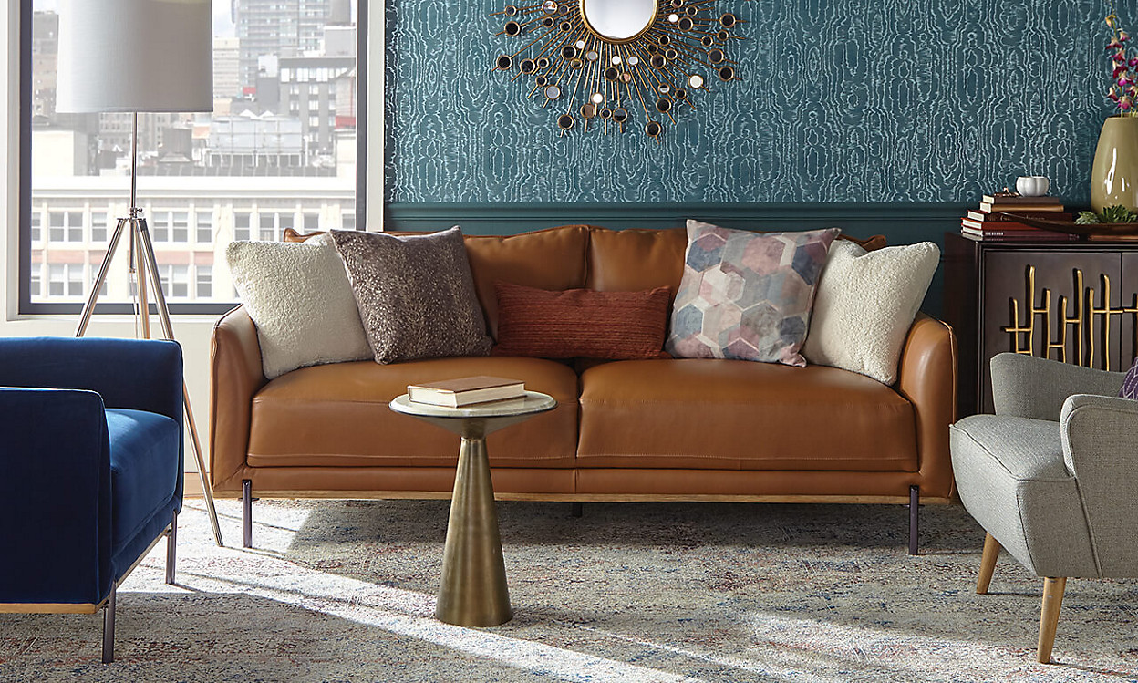 Roma Sofa with cofee table in a city apartment