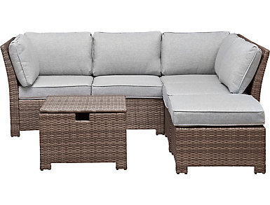 Bradford II 6 Piece Grey Sectional, , large