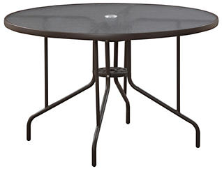 "Carter 45"" Round Table, Brown, , large"