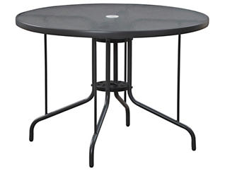 Geneva Round Dining Table, Grey, , large