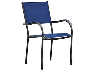 Geneva Stack Chair, Blue, , large