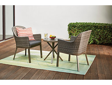 Lakeview 3 Piece Grey Chat Set, , large