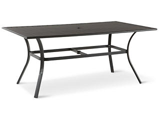 "Rugby 38"" x 66"" Rectangular Slat Table, Grey, , large"