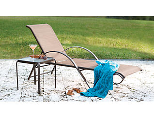 Manor II Stacking Chaise, Brown, , large