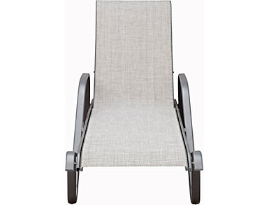 Manor III Grey Stacking Chaise, , large