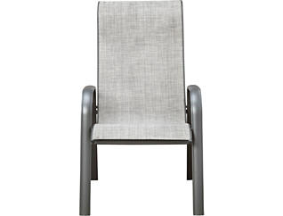 Manor III Charcoal HB Sling Back Chair, , large