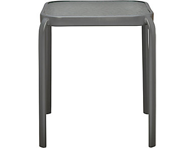 Manor III Grey Square End Table, , large