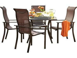 Rugby 5 Piece Outdoor Dining Set, , large