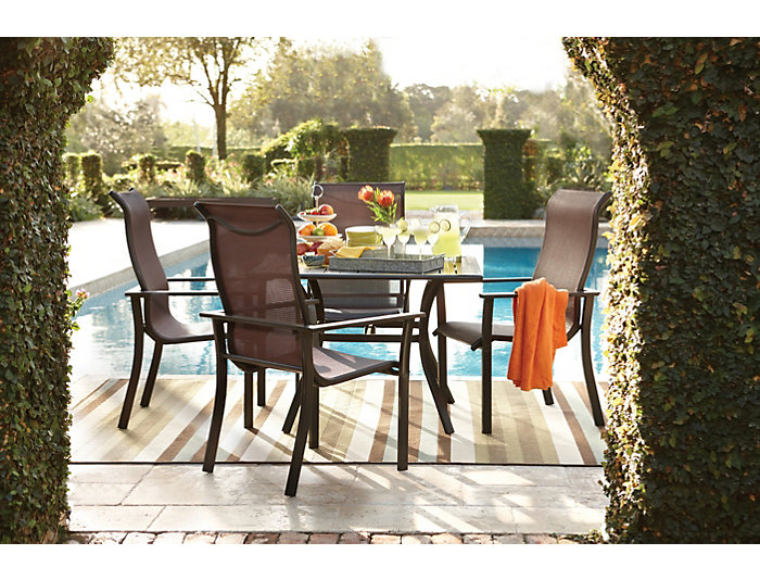 Rugby 5 Piece Outdoor Dining Set, , Large ...