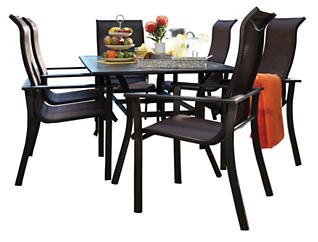 Rugby 7 Piece Outdoor Dining Set, , large
